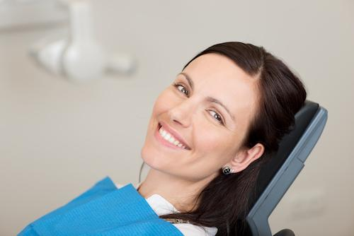 Female patient smiling during sleep apnea treatment in Bridgeton MO