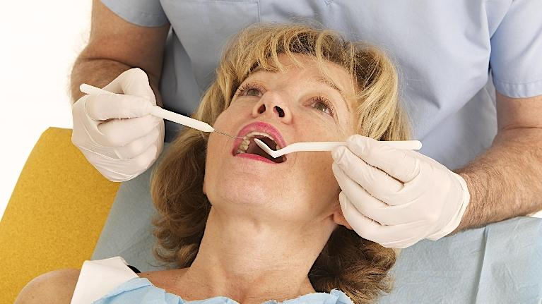 a person gets worked on in the dental chair dentist bridgeton mo