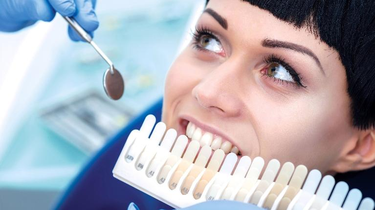 A woman gets her teeth whitened | Teeth Whitening in Hazelwood MO